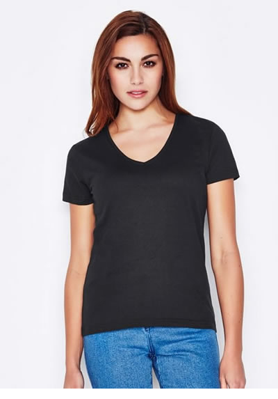 Keya Women's V  Neck Euro Fit T-shirt 180GSM